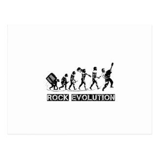 Cartão Postal Design engraçado da evolução da rocha