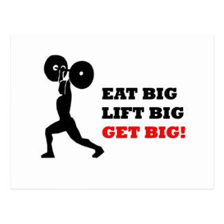 Cartão Postal Design engraçado do Gym