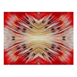 Cartão Postal Design farpado do Barbet do caleidoscópio