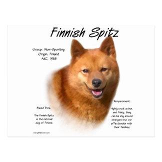 Cartão Postal Design finlandês da história do Spitz
