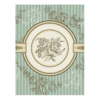 Cartão Postal Design floral barroco