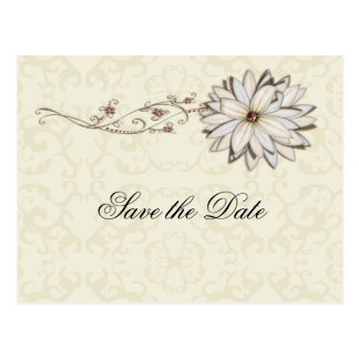 Cartão Postal Design floral elegante da ocasião especial