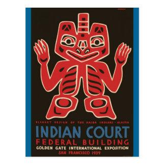 Cartão Postal Design geral dos indianos do Haida