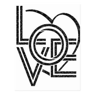 Cartão Postal design gráfico do vintage do amor