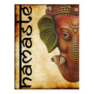 Cartão Postal Design indiano do namaste do ganesha do deus do