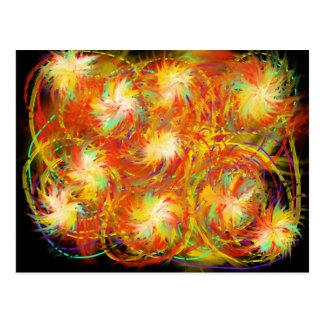 Cartão Postal Design Indie da arte abstracta do Aqua do amarelo