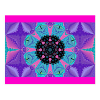 Cartão Postal Design Kaleidoscopic Postcard.2 da mandala