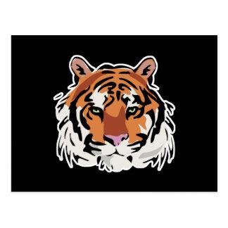 Cartão Postal design legal da cara do tigre