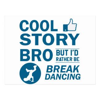 Cartão Postal Design legal da dança de ruptura