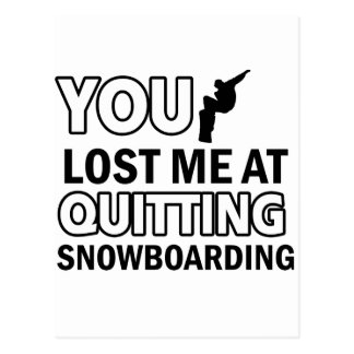 Cartão Postal Design legal da snowboarding