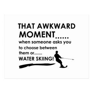 Cartão Postal Design legal do esqui aquático