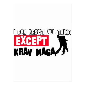Cartão Postal design marcial do maga do krav