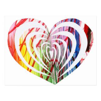 Cartão Postal Design moderno bonito e original do coração!