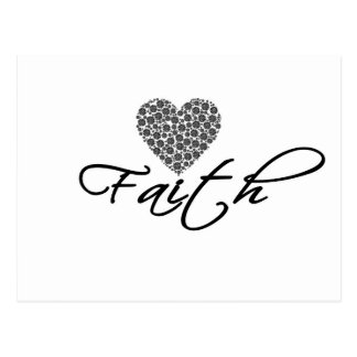 Cartão Postal Design moderno da fé com gráfico do coração