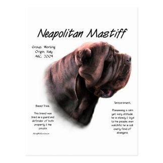 Cartão Postal Design napolitana da história do Mastiff (mogno)