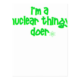 Cartão Postal Design nuclear original
