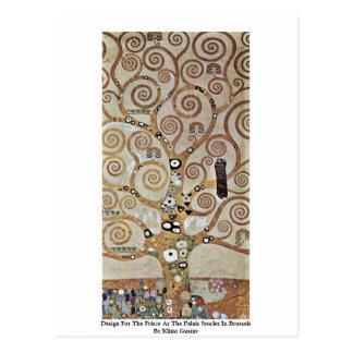 Cartão Postal Design para o friso no Palais Stoclet