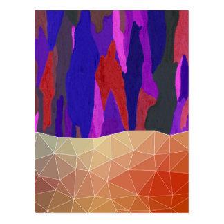 Cartão Postal Design Pastel colorido abstrato do olhar