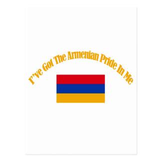 Cartão Postal Design patriótico arménio da bandeira