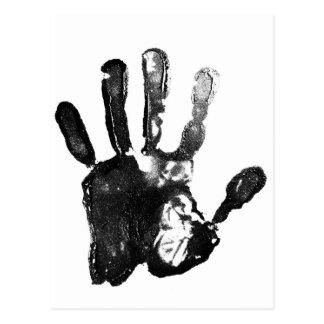 Cartão Postal Design preto do impressão da palma