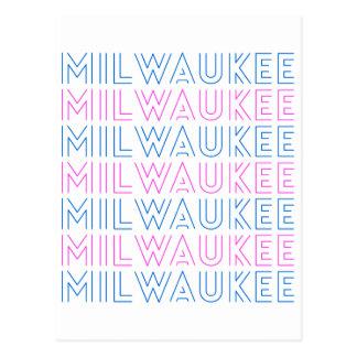 Cartão Postal Design retro do azulejo de Milwaukee