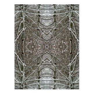 Cartão Postal Design simétrico da arte abstracta da neve do