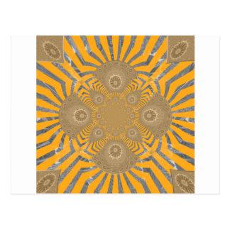 Cartão Postal Design simétrico surpreendente nervoso bonito do