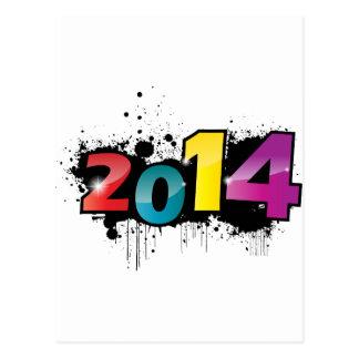 Cartão Postal Design subterrâneo do ano novo. 2014