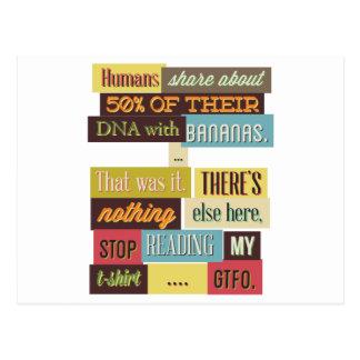 Cartão Postal design texting humano do ADN