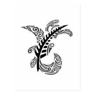 Cartão Postal Design tribal