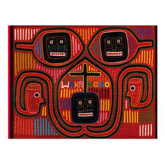 Cartão Postal Design tribal de Cuna