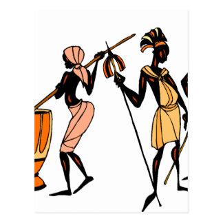 Cartão Postal Design tribal nativo étnico africano