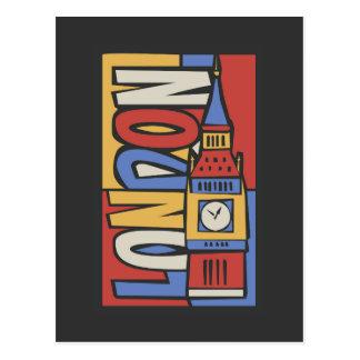 Cartão Postal Design vibrante de Londres, Inglaterra   Handrawn