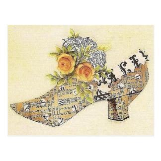 Cartão Postal Deslizador de Cinderella do rosa amarelo do