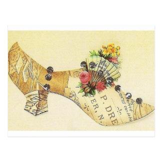 Cartão Postal Deslizador do fã do Victorian do vintage de