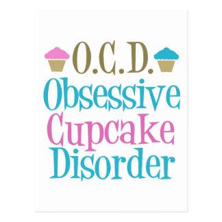 Cartão Postal Desordem obsessiva do cupcake
