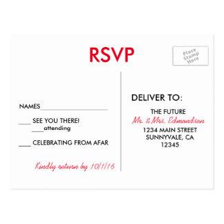 Cartão Postal Destino de Las Vegas que Wedding RSVP