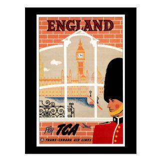 Cartão Postal Destino: Poster de viagens de Inglaterra