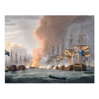 Cartão Postal Destruição da frota dinamarquesa antes de