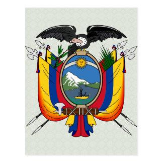 Cartão Postal Detalhe da brasão de Equador