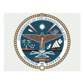 Cartão Postal Detalhe da brasão de Marshall Islands