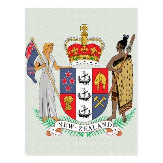 Cartão Postal Detalhe da brasão de Nova Zelândia