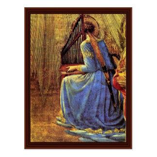 Cartão Postal Detalhe da coroação por Angelico Fra
