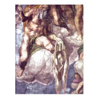 Cartão Postal Detalhe da descrição de capela de Michelangelo