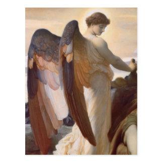 """Cartão Postal Detalhe de anjo, """"Elijah na região selvagem """""""