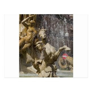 Cartão Postal Detalhe de d'Artemide de Fontana, Ortigia