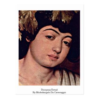 Cartão Postal Detalhe de Dionysus por Michelangelo a Dinamarca
