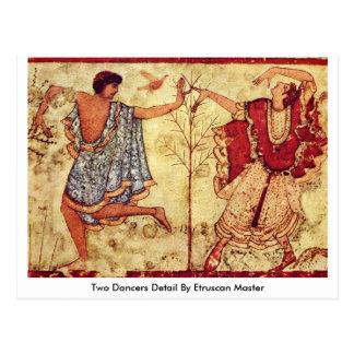 Cartão Postal Detalhe de dois dançarinos pelo mestre de Etruscan