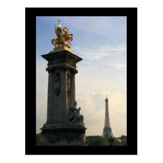 Cartão Postal Detalhe de Pont Alexandre III