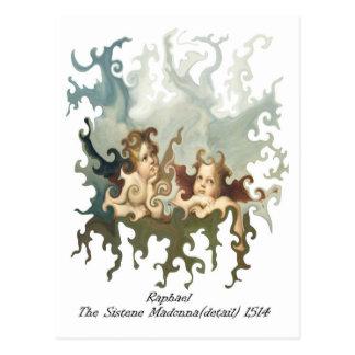 Cartão Postal Detalhe de Raphael do Sistene Madonna